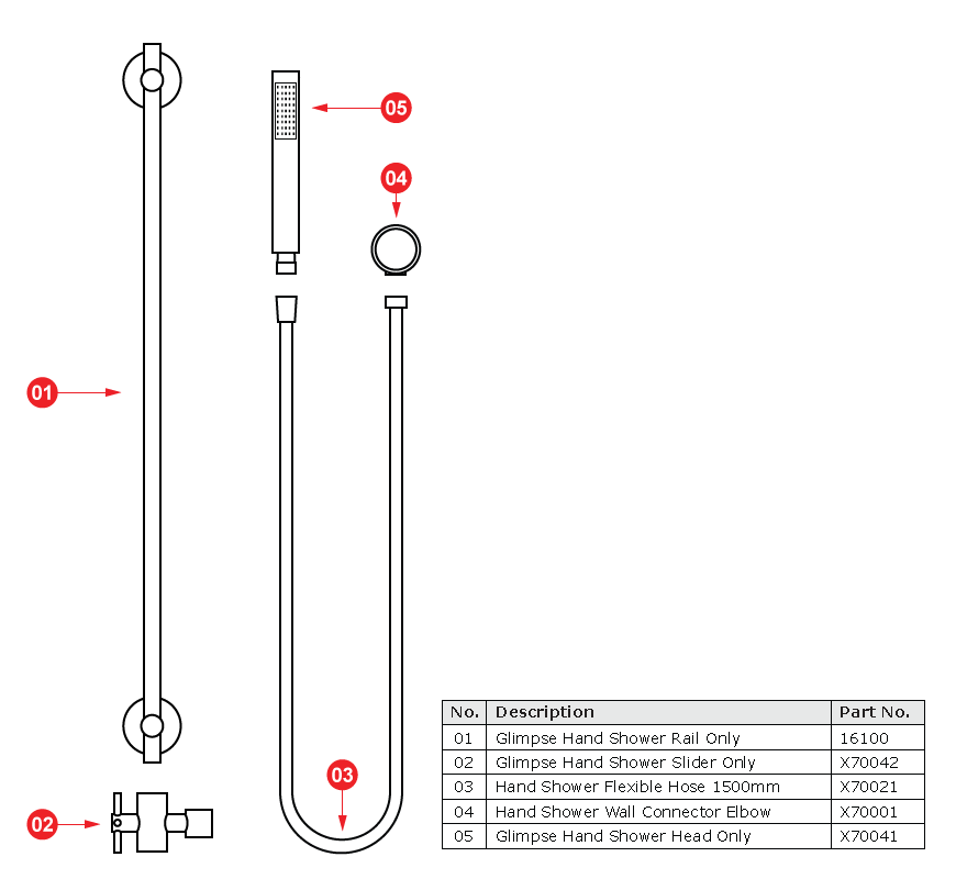 SHR-001C   Look Tapware